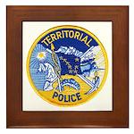 Alaska Territory Police Framed Tile