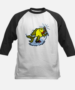 Stand-Up Fish funny comic car Tee
