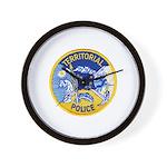 Alaska Territory Police Wall Clock