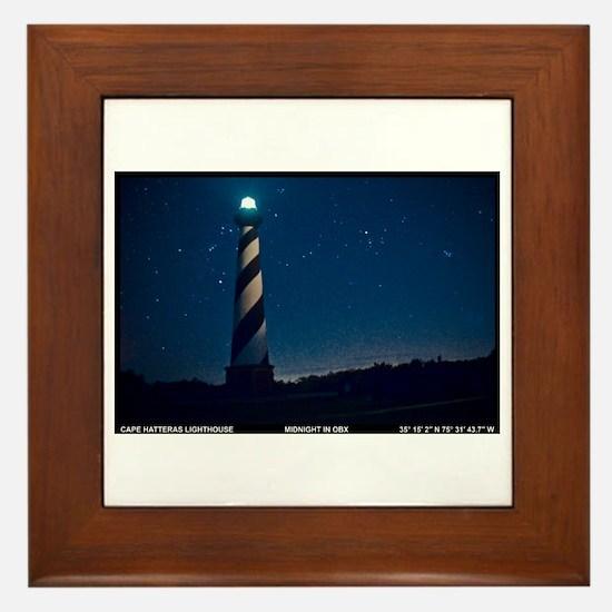 Hatteras Lighthouse. Framed Tile