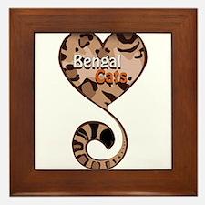 Bengal Cat Love Framed Tile