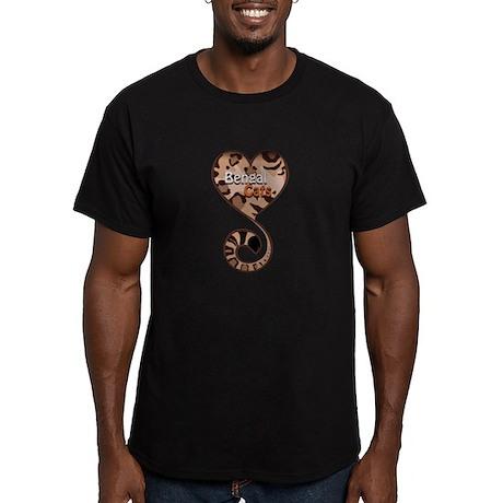 Bengal Cat Love Men's Fitted T-Shirt (dark)