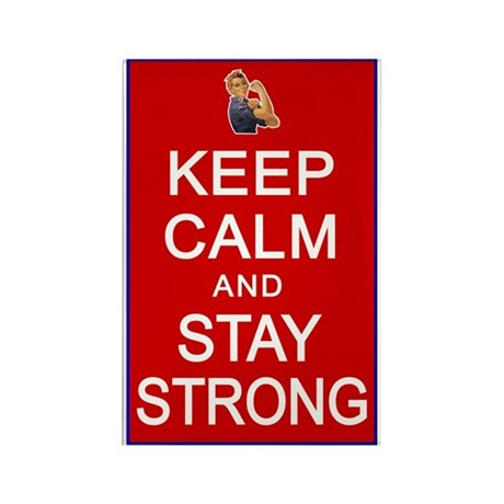 Womens Rights Keep Calm Stay Strong Rectangle Magn