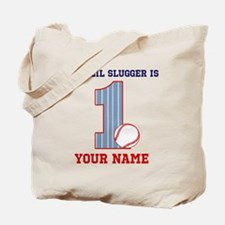 1st Birthday Baseball Tote Bag