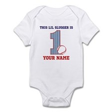 1st Birthday Baseball Infant Bodysuit