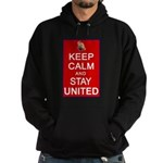 Keep Calm and Stay United Hoodie (dark)