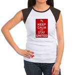 Keep Calm and Stay United Women's Cap Sleeve T-Shi