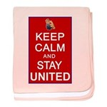 Keep Calm and Stay United baby blanket
