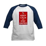 Keep Calm and Stay United Kids Baseball Jersey