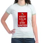 Keep Calm and Stay United Jr. Ringer T-Shirt