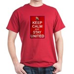 Keep Calm and Stay United Dark T-Shirt