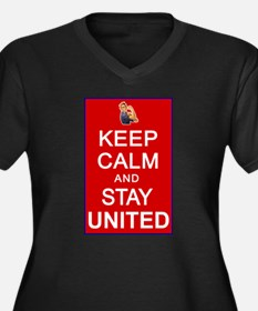 Keep Calm and Stay United Women's Plus Size V-Neck