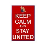 Keep Calm and Stay United Rectangle Magnet (10 pac