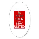 Keep Calm and Stay United Sticker (Oval 50 pk)