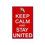 Keep Calm and Stay United Sticker (Rectangle 10 pk
