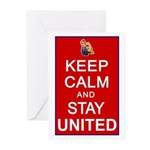 Keep Calm and Stay United Greeting Cards (Pk of 10