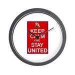 Keep Calm and Stay United Wall Clock