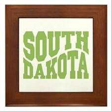 South Dakota Framed Tile