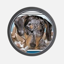 Speckled Dachshund Dogs Wall Clock
