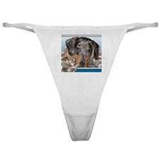 Speckled Dachshund Dogs Classic Thong