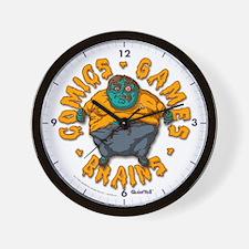 Zombie Fanboy Wall Clock