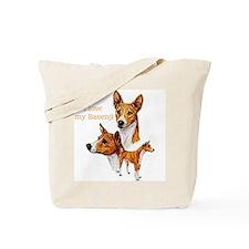 """""""Basenji"""" Tote Bag"""