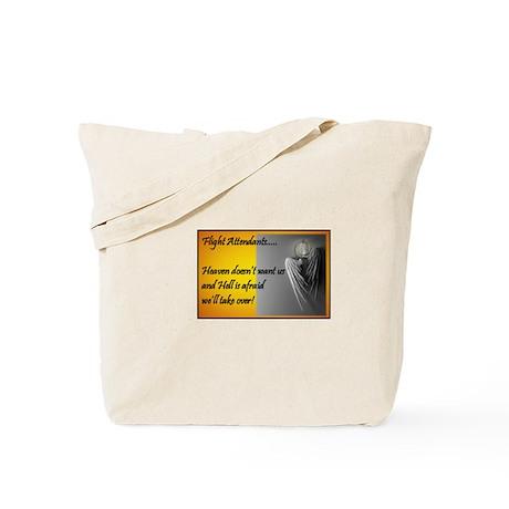 Flight Attendant Heaven or He Tote Bag