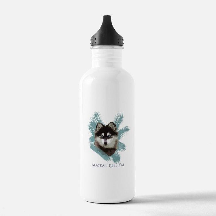 Cute Alaskan klee kai Water Bottle