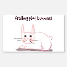 Plot Bunny Rectangle Decal