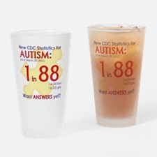 1 in 88 Want Answers v1 Drinking Glass