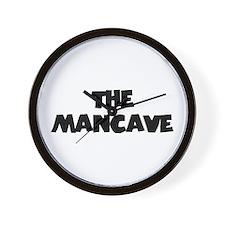 The Mancave (black) Wall Clock