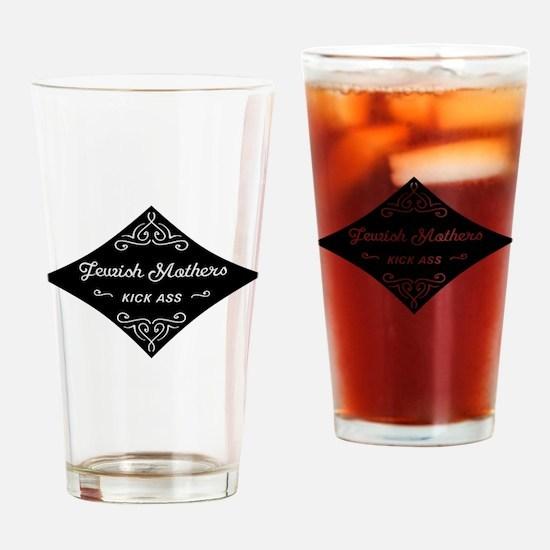 Jewish Mothers Kick Ass Drinking Glass