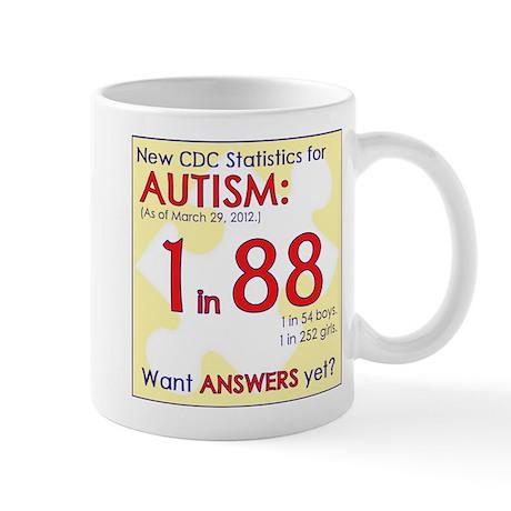 1 in 88 Want Answers v2 Mug