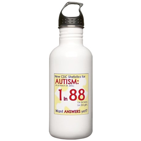 1 in 88 Want Answers v2 Stainless Water Bottle 1.0