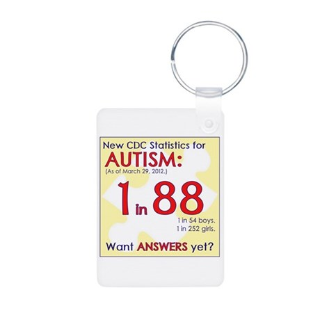 1 in 88 Want Answers v2 Aluminum Photo Keychain