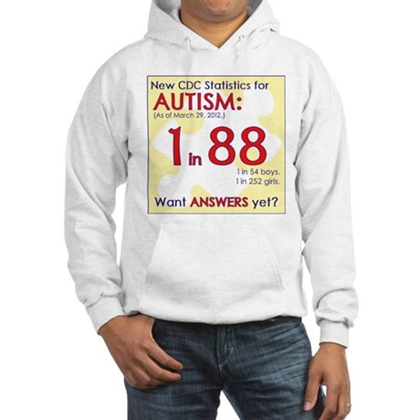 1 in 88 Want Answers v2 Hooded Sweatshirt