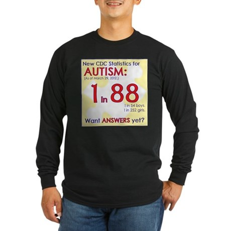1 in 88 Want Answers v2 Long Sleeve Dark T-Shirt