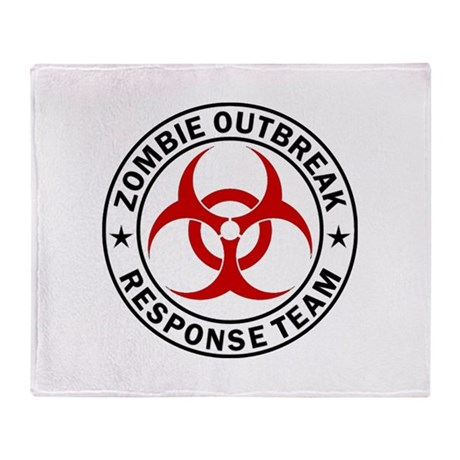 Zombie Outbreak Response Team Throw Blanket