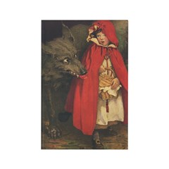 Smith's Red Riding Hood Rectangle Magnet