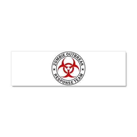 Zombie Outbreak Response Team Car Magnet 10 x 3