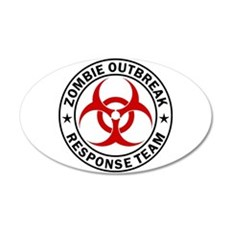 Zombie Outbreak Response Team Wall Sticker