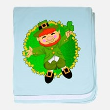 Little People Irish baby blanket