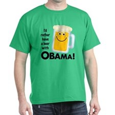 Beer with Obama T-Shirt