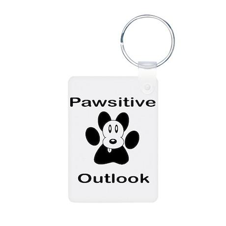Pawsitive Outlook -- Dog Aluminum Photo Keychain