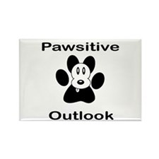 Pawsitive Outlook -- Dog Rectangle Magnet