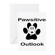 Pawsitive Outlook -- Dog Greeting Cards (Pk of 10)