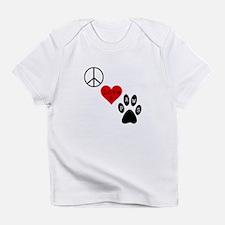 Peace Love & Paws Infant T-Shirt