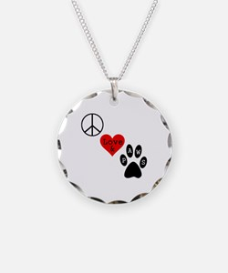 Peace Love & Paws Necklace