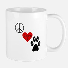 Peace Love & Paws Mug
