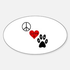 Peace Love & Paws Decal
